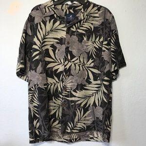 Caribbean Joe Island Supply Co silk shirt L black